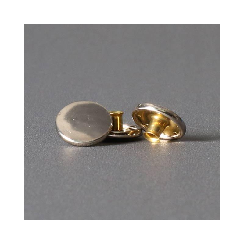 Ringfeder-Druckknopf 15mm - Kappe vernickelt