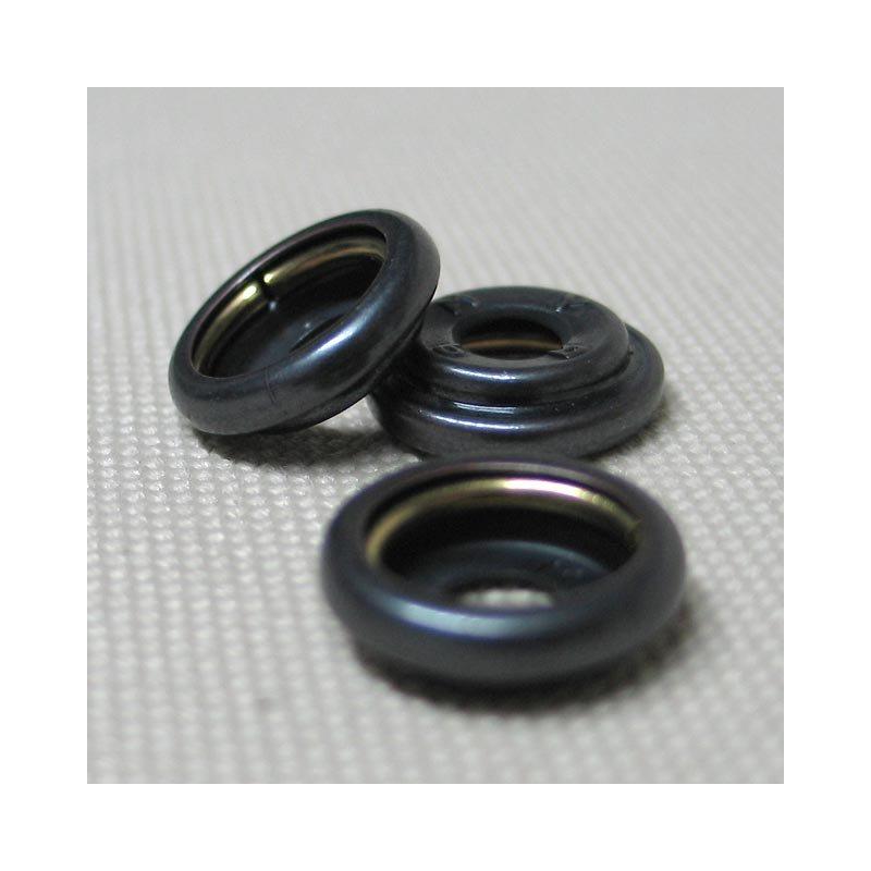 Ringfeder-Druckknopf 15mm - Ringfeder für Kappe brüniert