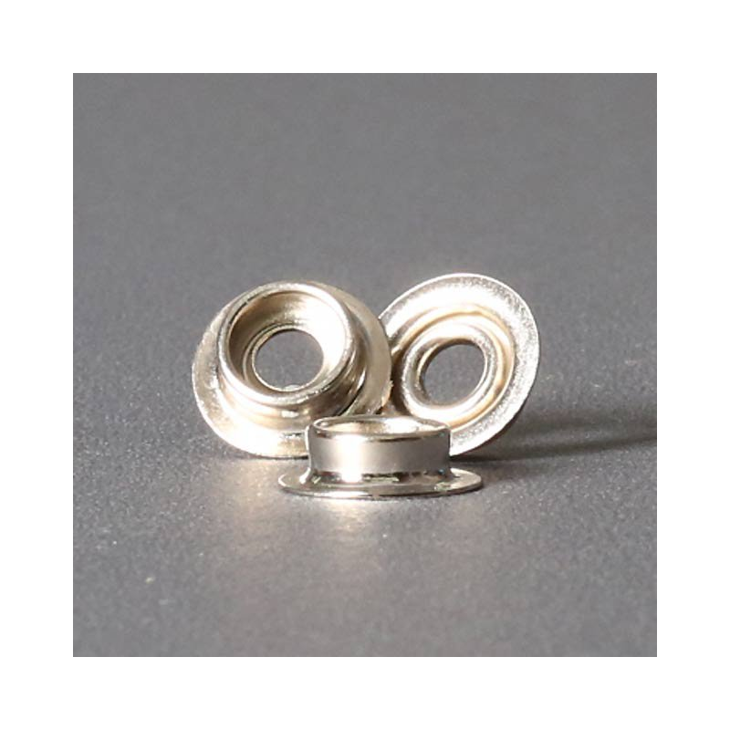 Ringfeder-Druckknopf 15mm - Kugelteil vernickelt
