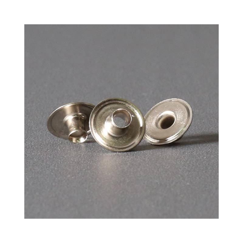 Ringfeder-Druckknopf 15mm - Niet für Kugelteil vernickelt