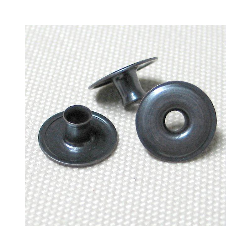 Ringfeder-Druckknopf 15mm - Niet für Kugelteil brüniert