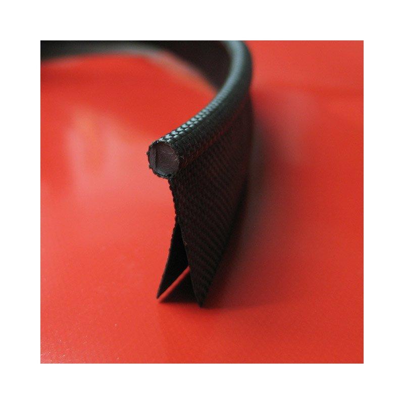Kederband 7,5mm schwarz doppelfahne