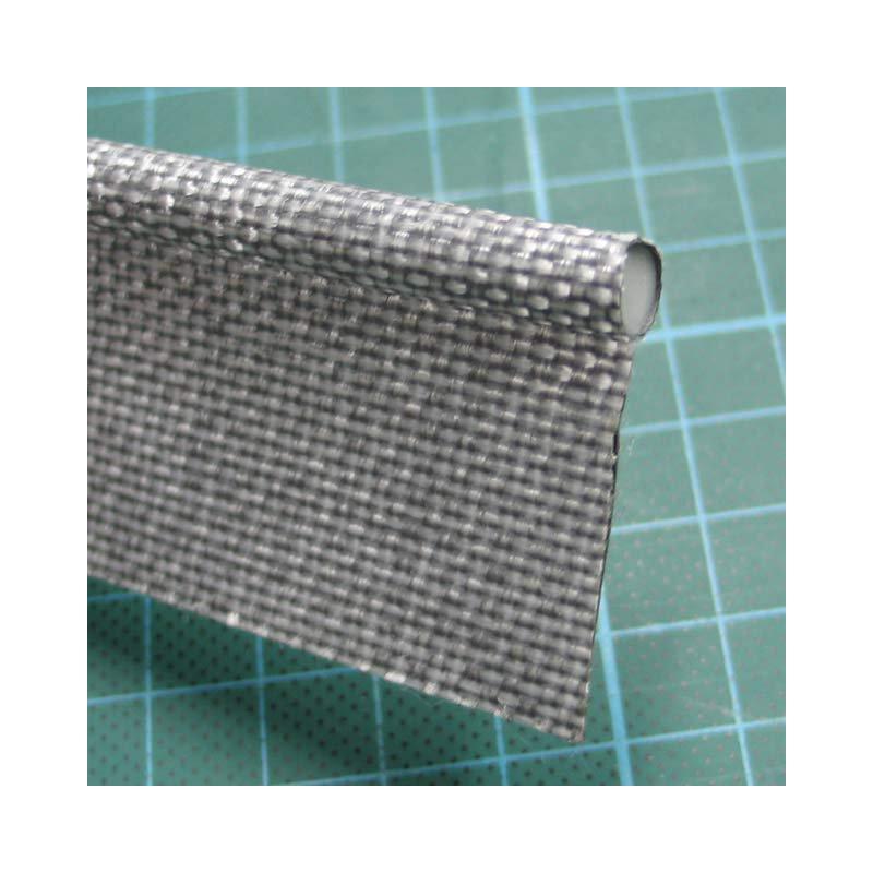 Kederband 7,5mm grau / mittelgrau doppelfahne