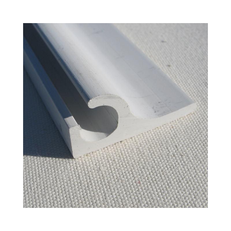 Kunststoff - Kederschiene Wandmontage 7,5mm weiss 45°