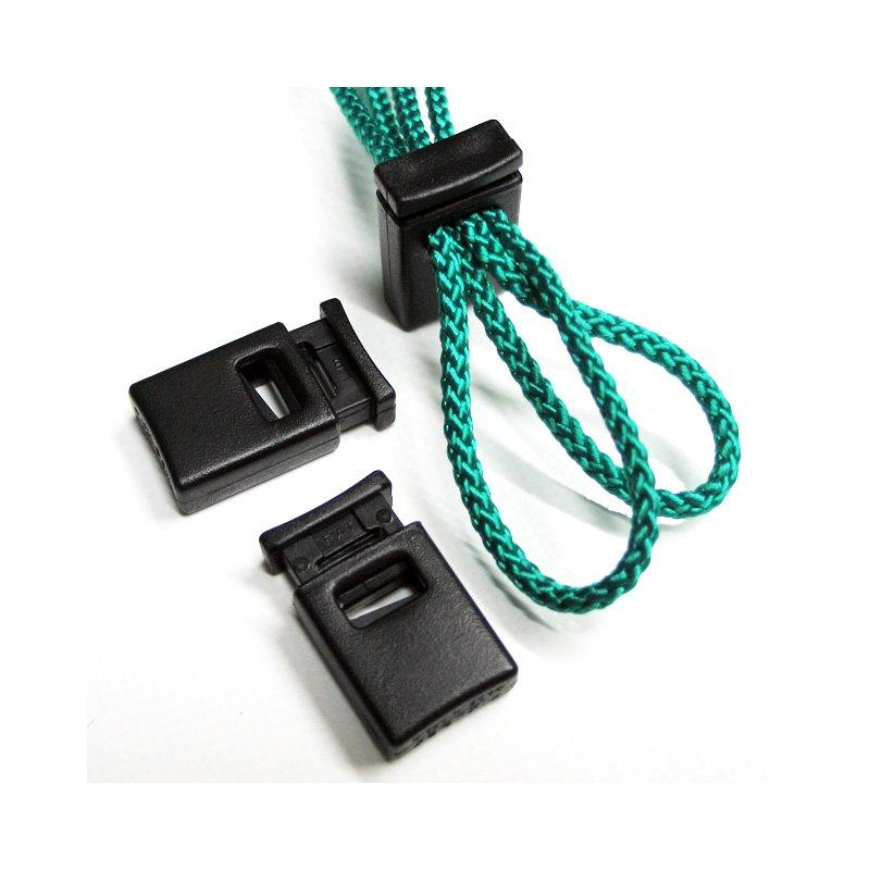 Kordelstopper schwarz Cord-Lock für 2x4mm Seil