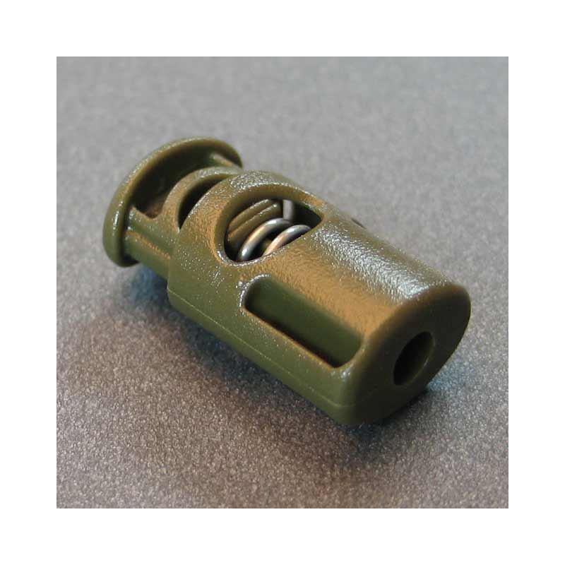 Kordelstopper 2x4mm oliv