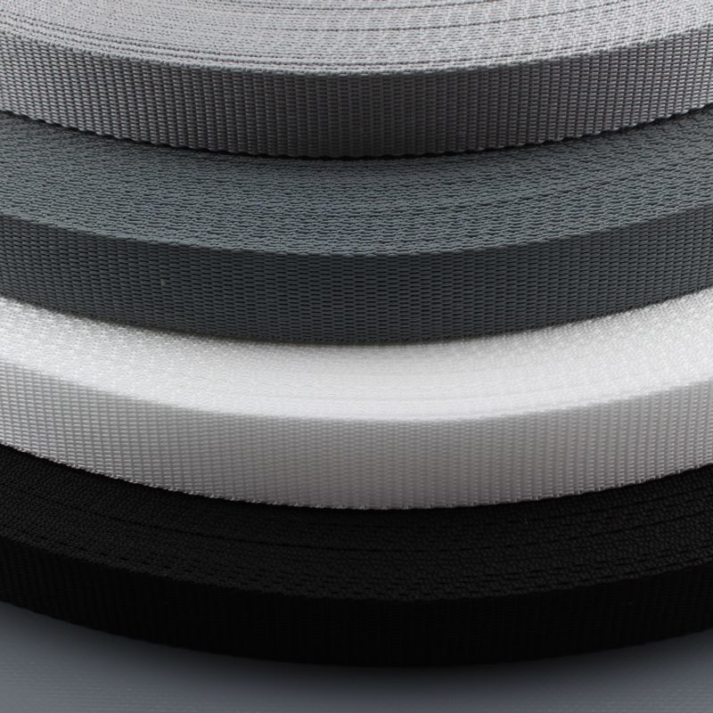 1,4mm stark 15mm breit UV schwarz 50m PP Gurtband