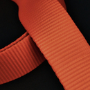 Signalfarbendes Gurtband 50mm orange fluoreszierend