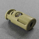 Kordelstopper 2x4mm TAN mit Metallfeder